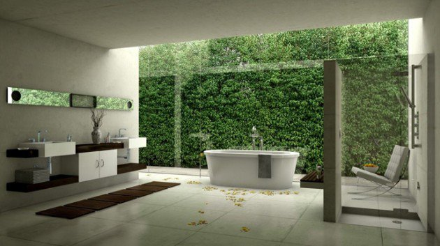 Green Luxry Bathroom